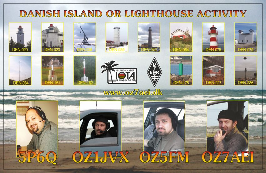 The QSL we use from lighthouses 2010