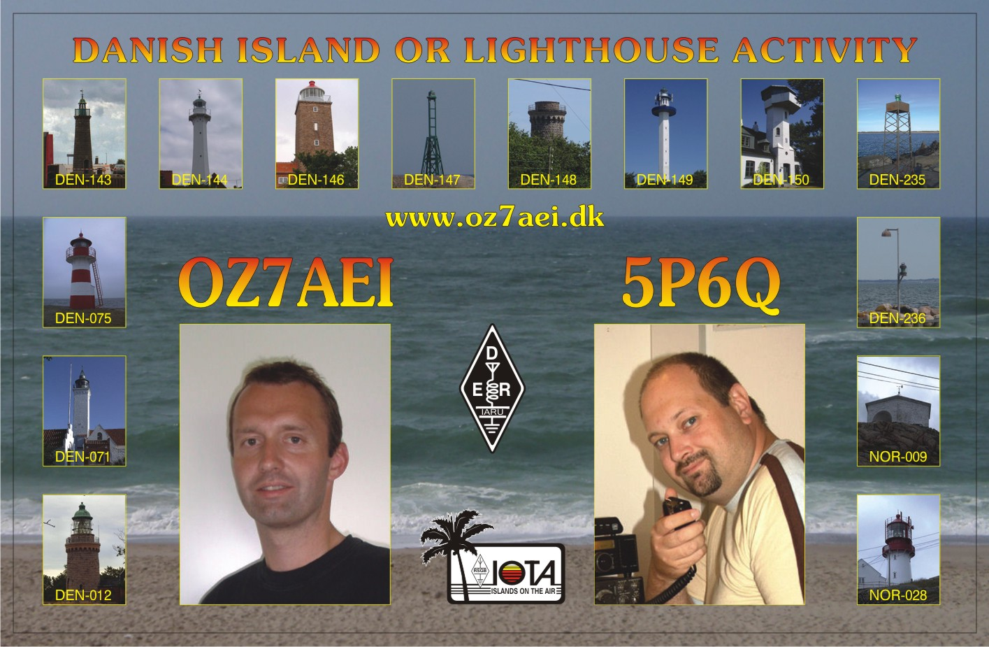 The QSL we use from lighthouses 2009